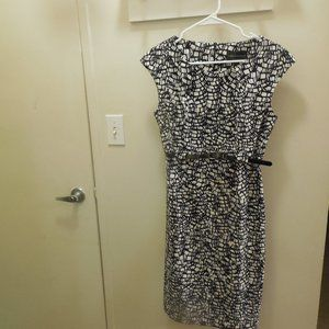 Ladies Dress Connected Apparel Size 10 Black White